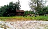 Pawilon nad Jeziorem Kiełpińskim.