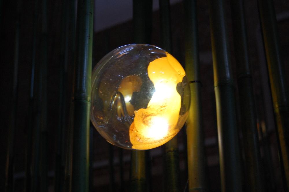 """jajo syrenie - fragment instalacji """"trzcinowisko"""" na the Baltic House Lab 2015"""